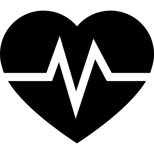 Heart Beats Line Graphic On A Heart Shape Icons Free Download