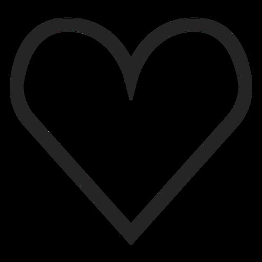 Hand Drawn Cute Heart Icon
