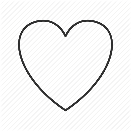 Full Heart, Heart, Heart Icon, Heart Outline, Valentine