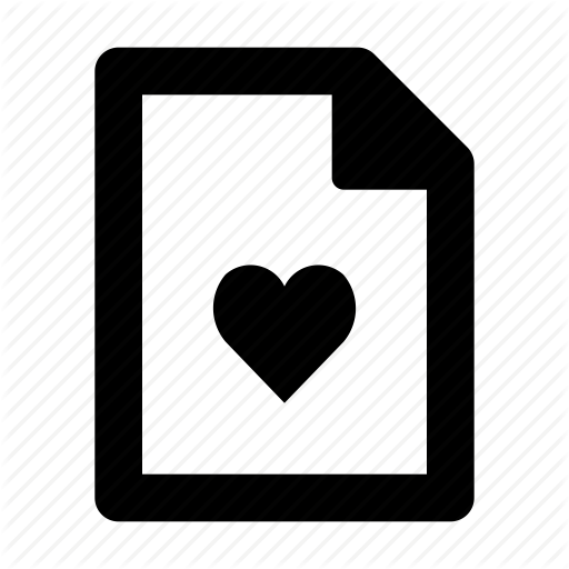 Doc, Document, File, Heart, Text Icon