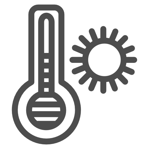 Warm, Thermometer, Heat Icon Free Of Travelling Icons Iipart