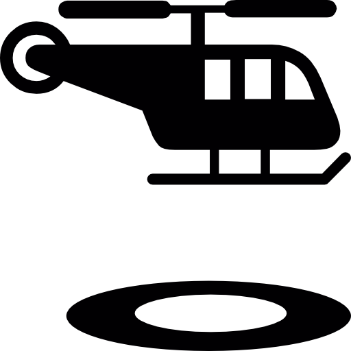 Helicopter And Circular Landing Strip Icons Free Download