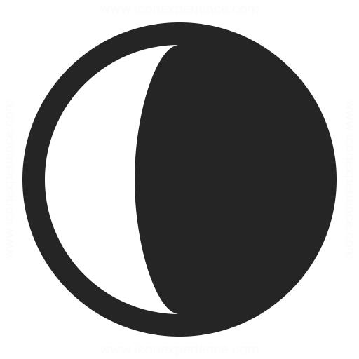 Moon Half Icon Icons Symbols Etc Professional Icon