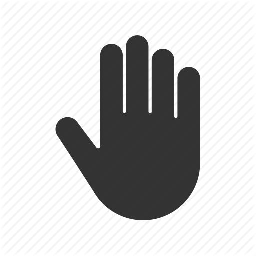 Five, Gesture, Greeting, Hand, Hello, Palm Icon