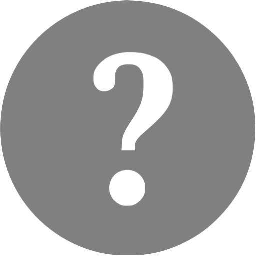 Gray Help Icon