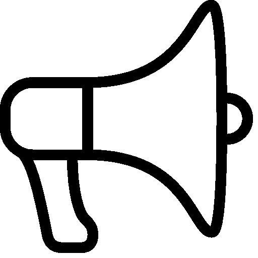 Very Basic Electric Megaphone Icon Ios Iconset