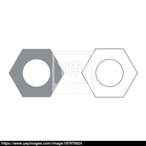 Hex Nut It Is Icon Vector