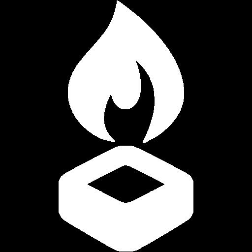 White Hex Burner Icon
