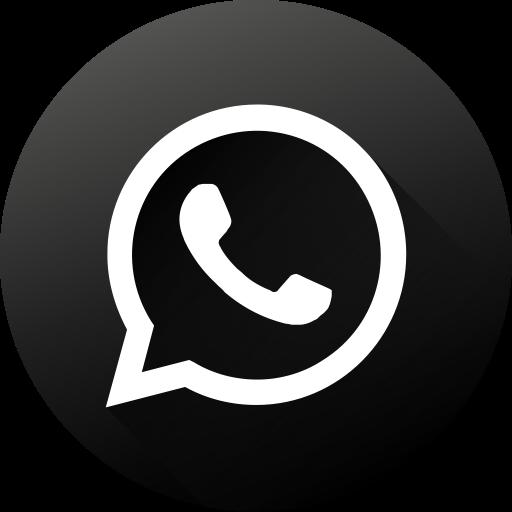Circle, Social Media, Social, Black White, Whatsapp, Long Shadow