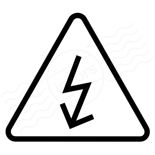 Iconexperience I Collection Sign Warning Voltage Icon