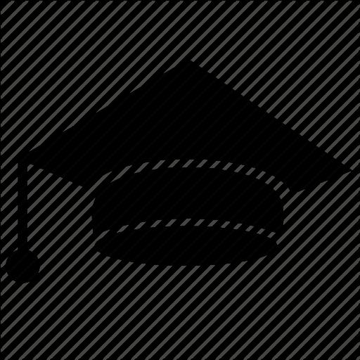 Cap, Education, Head, High, School Icon