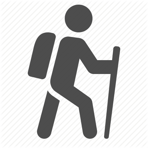 Backpack, Hike, Hiking, Man, Walking Icon