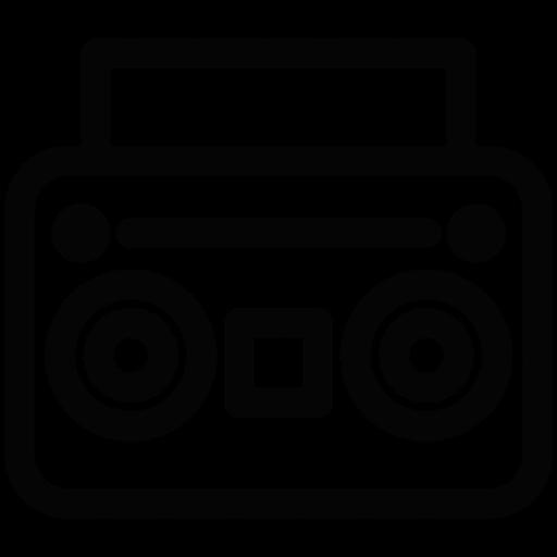 Download Boom,boom Box,hip Hop,line,music,pop Icon Inventicons