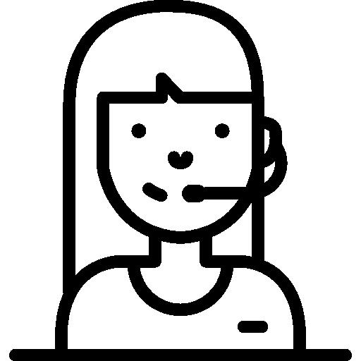 Telemarketing Phone Operator Icons Free Download