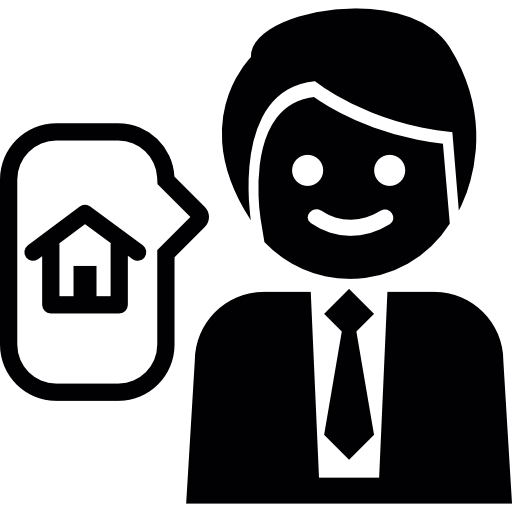 Businessman Talking About A House Real Estate Icons Free Download