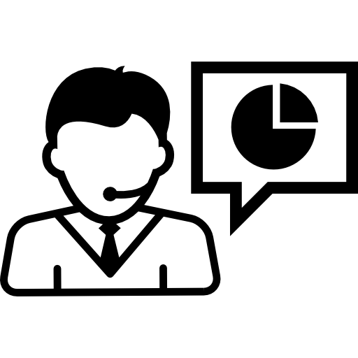 Businessman Talking About Business Stocks Icons Free Download