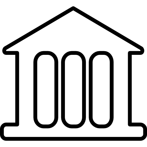 Historical Building Outline With Columns