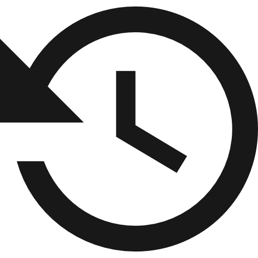 History Clock Button Icons Free Download