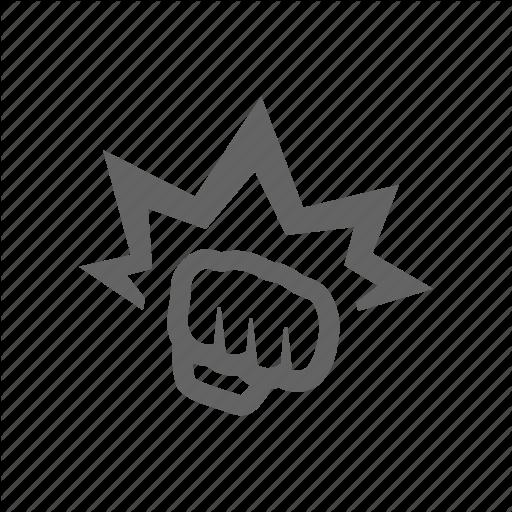 Arm, Fist, Hand, Hit, Power, Punch, Strike Icon