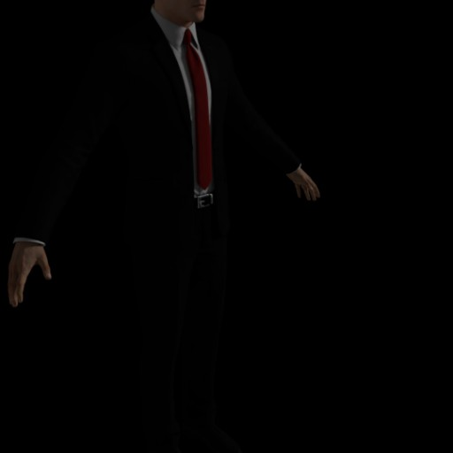 Agent Hitman Fully Rigged And Textured Blend Swap