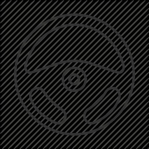 Car Vehicle Or Automobile Steering Wheel Icon Or Symbol Vector