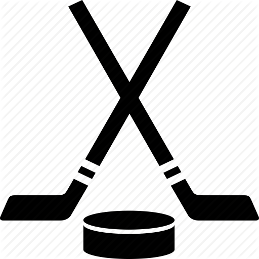 Cool Puck And Hockey Stick Icon