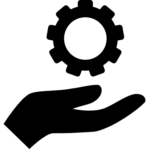 Hand Holding Up A Gear Icon Hands Holding Up Freepik