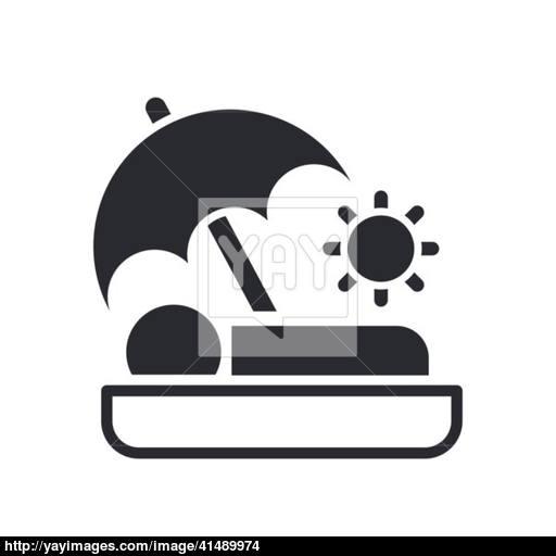 Vector Illustration Of Single Summer Holiday Icon Vector