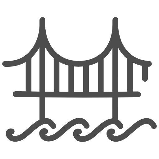 Golden, Gate, Bridge Icon Free Of Travelling Icon Set, Ist Part