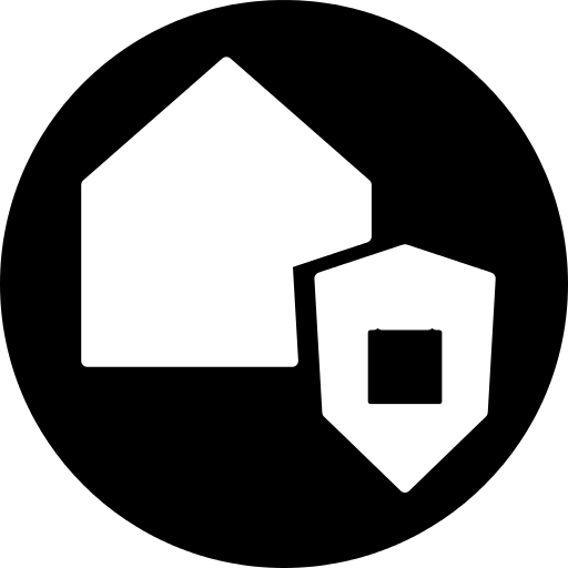 Surveillance For A House Symbol In A Circle Png Icon