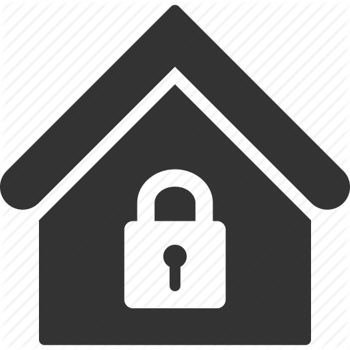 Building, Home, House, Lock, Locked, Real Estate, Security Icon