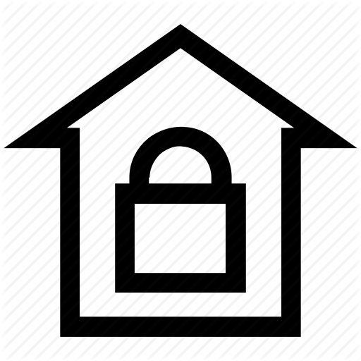 House, Lock, Property, Protection, Safe Home, Security Icon