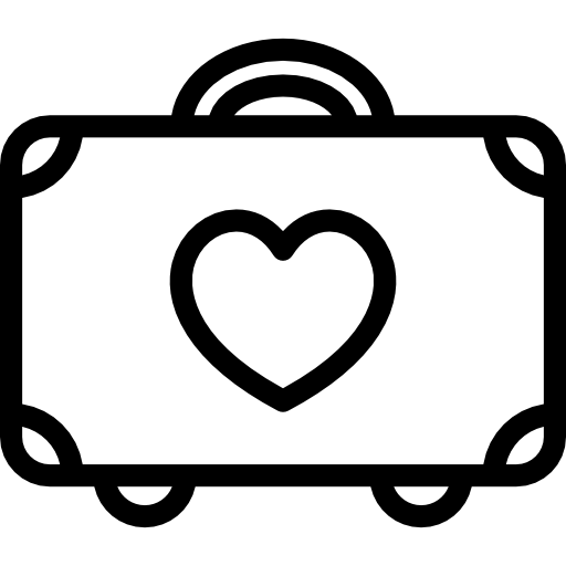 Honeymoon Luggage Icons Free Download