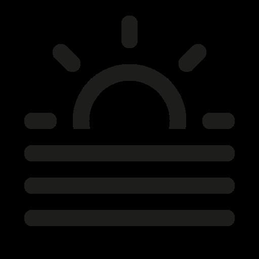 Sun Icon Horizon Suncoat App Icon, Symbols