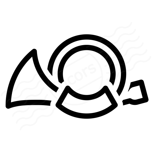 Iconexperience I Collection Post Horn Icon
