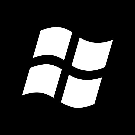 Desktop Apps Windows Black Icon