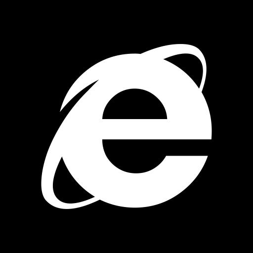 Desktop Apps Explorer Black Icon