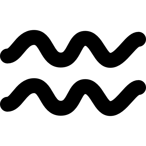 Aquarius Zodiac Sign Symbol Icons Free Download