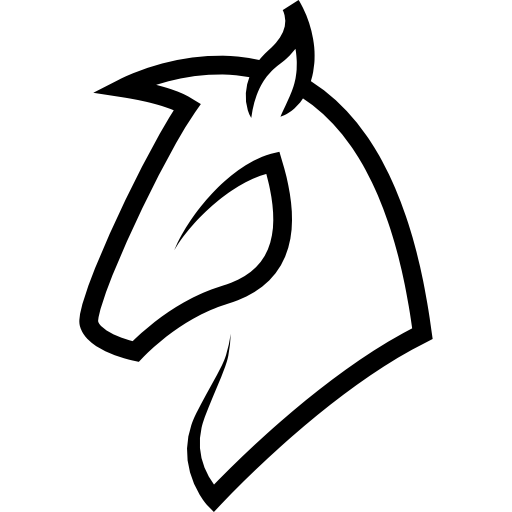 Horse Head Outline Icons Free Download