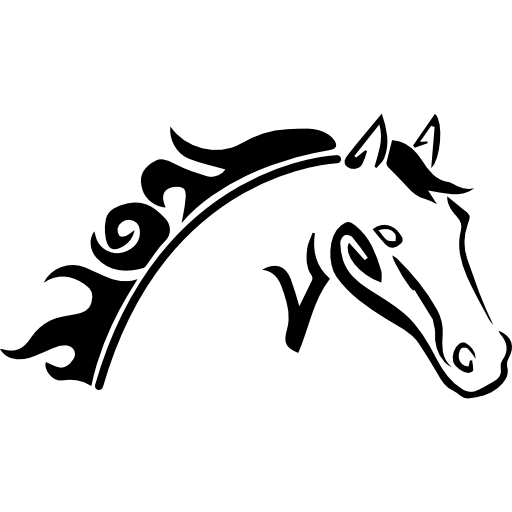 Horse Head Sketch Variant Icons Free Download