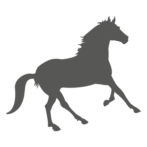Running Horse Icon Silhouette