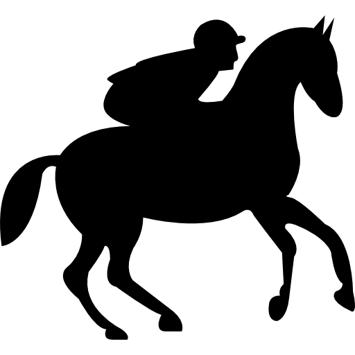 Running Horse With Jockey Icons Free Download