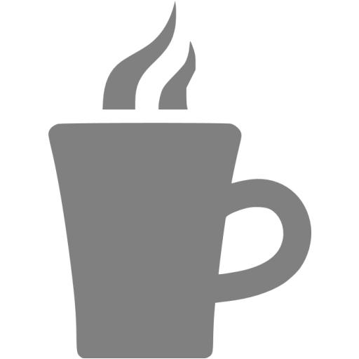 Gray Hot Chocolate Icon