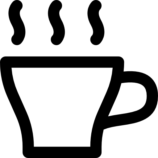 Hot Coffee Icon Drinks Pixel Perfect