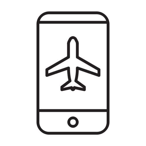 Booking, Airport, Air, Mobile, Airplane, Airship, Airline Icon