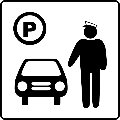 Hotel Icon Has Parking Attendant Clipart
