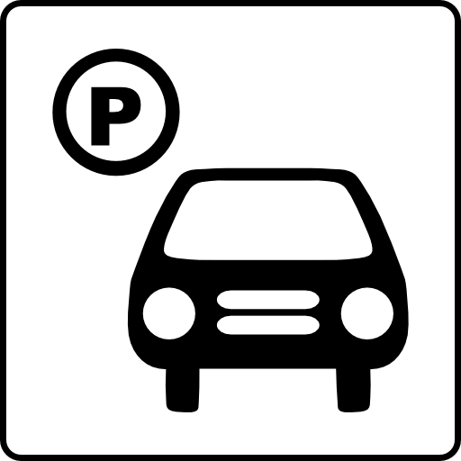 Hotel Icon Has Parking Clipart