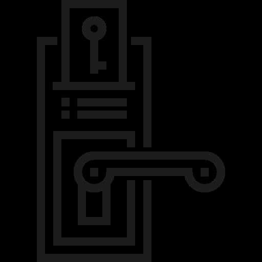 Security, Access, Hotel, Room, Doors, Door Key, Doorknob Icon