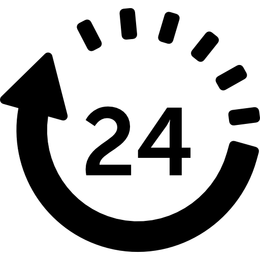 Hours Delivery Icons Free Download