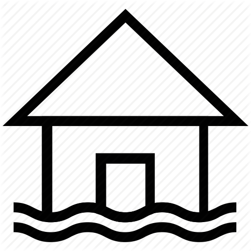 Beach House, House, Island, Resort, Sea, Sea House Icon